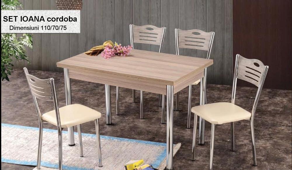 Set masa cu 4 scaune Ioana
